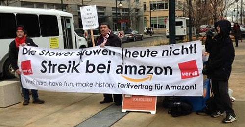 Amazon เผชิญปัญหาคนงานประท้วงขึ้นค่าแรงในเยอรมัน