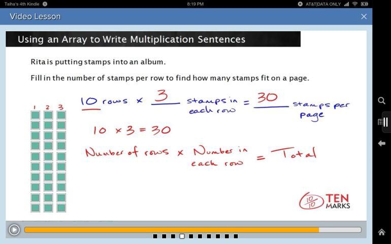 แอพเรียนคณิตศาสตร์, Kindle ,Amazon , TenMarks